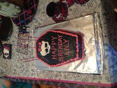 Homemade monster high cake.