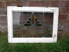 1930 s art deco/ nouveau orginal leaded light stained coloured glass windows