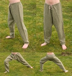 Simple linen viking pants. Hand sewn by Henrik Nordholm.  https://www.facebook.com/pages/Henrik-Nordholm/254634504677319