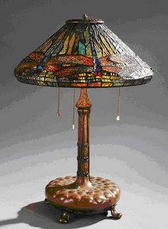 Tiffany Lamp Red Dragonflies