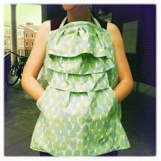 Green Leaves Ruffled Nursing Cover by Nudelbeans on Etsy