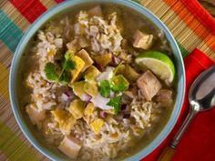Pork and Poblano Soup from CookingChannelTV.com