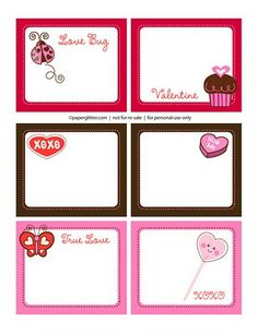 Valentines Day Lunchbox Notes FREE Printables » The Organised Housewife