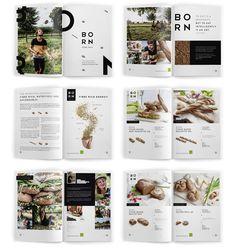 graphic design, born, art book layout, branding book magazine layout, canada, behance, bakeries, print design, layout design