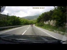 М4-ДОН Грузовик занесло на крутом повороте