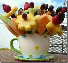 DIY fruit bouquet
