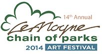 14th Annual LeMoyne Chain of Parks Art Festival, Saturday and Sunday, April 19 - 20, 2014, 10:00 a.m. - 5:00 p.m., Downtown Chain of Parks in Tallahassee, Florida.