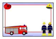 Fire Service A4 page borders (SB8927) - SparkleBox Maybe to make a sign to remind about Fire Fighters visiting