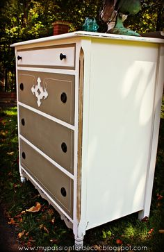 dresser in ASCP French Linen and Pure White
