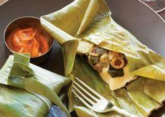 Guatemalan Tamales with Romesco Sauce | Vegetarian Times