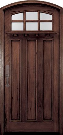 Andean Walnut Solid Wood Front Entry Door - Single