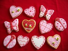 cute valentines day cookies
