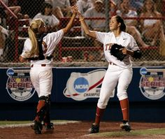 Cat Osterman and Megan Willis. LOVE Cat Osterman as a pitcher!