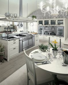English Mood Collection of Luxury Kitchen Furniture by Minacciolo - Style Estate -