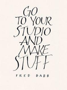 creativ, art journal, art studio, letter, calligraphy quote