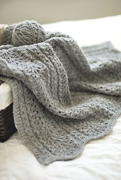 Shale lace baby blanket - beautiful!