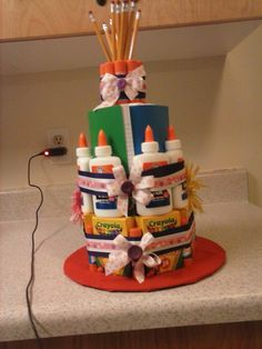 MY SON FIRST GRADE TEACHER GIFT...A BACK TO SCHOOL CAKE!!!