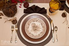 pretti thanksgiv, turkey plate, thanksgiv place, place set