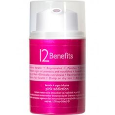 12 Benefits: Replenishes human hair Keratin, Rejuvenates damaged hair, Polishes, Strengthens weakened hair, Moroccan argan oil protects and nourishes, Intensifies shine, Velvety-soft feel, Eliminates unruliness, Reverses hair deficiencies, Use on damp or dry hair, Restores overall hair health, Anti-age formula keeps hair youthful