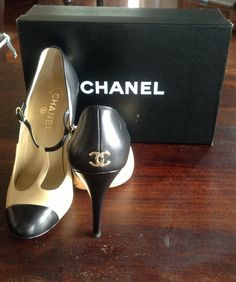 CHANEL HEELS.  Like, Repin, Share, Follow! Thanks :)