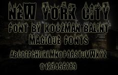 New York City Font:  Something like this but let chunky and stylized...