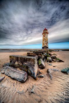 ✯ Lighthouse at Talacre Beach - Flintshire, North Wales, UK