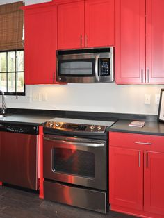 Spaces Red Kitchen Cabinets Design, Pictures, Remodel, Decor and Ideas - page 5