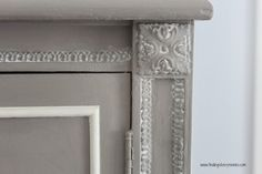 Silver Pennies: A Chalk Paint Review & The Clifton Armoire.  Painted in French Linen and Old White #chalkpaint with a surprise color inside.  Tutorial on tinting wax.
