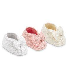 Jefferies Socks 2609 Bow Bootie-Crocheted Baby Booties
