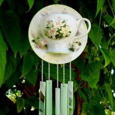 Tea cup wind chimes
