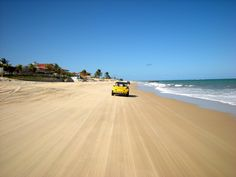 Exhilarating buggy ride along a beach in Natal, Brazil