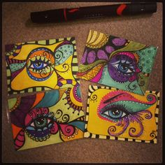 Lovely, lovely eyelashes ATC's | Flickr - Photo Sharing!