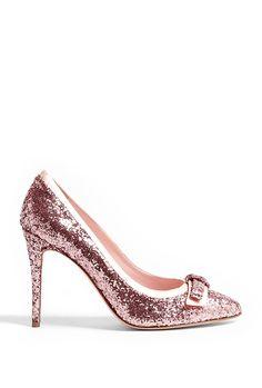 Red Valentino Glitter Bow Pump