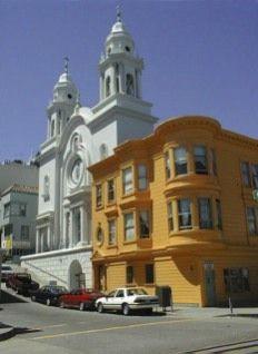 san francsico, marilyn monroe, francisco church, colors, churches