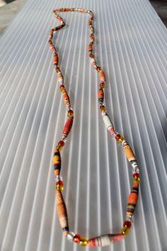 Magazine Bead Necklace