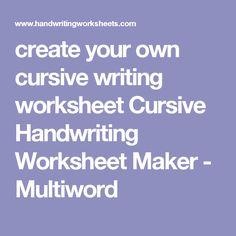 cursive writing maker