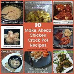 10 SUPER EASY Make Ahead Chicken Crock Pot Recipes from @Clair @ Mummy Deals #crockpot #slowcooker #chickenrecipes