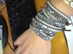 ARM PARTY: We are loving Abby's Botswana Agate look today ♥ Shop all Botswana Agate styles here http://www.chanluu.com/category-s/655.htm