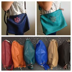Monogrammed cross body bag