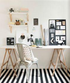 Desk design inspiration #stripes #Scandinavian