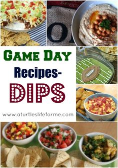 Game Day Recipes!!!  Dips Galore