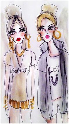 golden + lucky // illustration by blair breitenstein