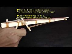 Tutorial - How To make Semi Automatic Chopstick Rubber Band Gun 2/ OGG CRAFT