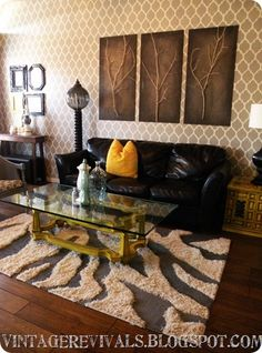 DIY zebra print rug