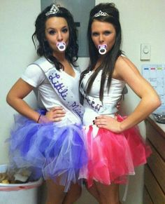 Toddlers and Tiaras halloween costume! Ha ha ha! So, doing this!