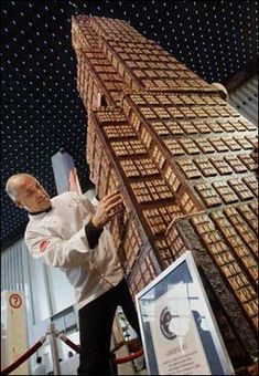 World's tallest #chocolate tower!