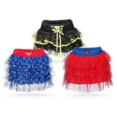 "Superhero tutus make a cute Halloween costume for teens who think their too cool for ""normal"" costumes!"