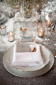 Conceptualiser la scénographie d'un mariage d'hiver #winterwedding #decor #table #decoration #mariage