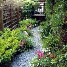 dri stream, river rocks, stone paths, bed, garden paths, front yards, side yards, gardens, stone walkways