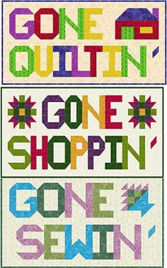 Gone Havin' Fun Quilt Pattern SP-208 (advanced beginner, wall hanging)